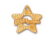 5 - TierraCast Pewter CLASP Hammered Star Toggle Set, Bright Gold Plated
