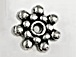 Daisy Pewter Spacer Bead
