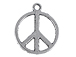 Pewter Peace Charm
