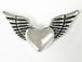 Heart with Wings Pewter Pendant