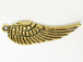 Angel Wings Antique Gold Plated Pewter Pendant
