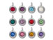 TierraCast Bright Rhodium Plated Pewter 6745 series Birthstone Charms, Set of 12, with Tanzanite