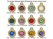 TierraCast Bright Gold Plated Pewter 6766 series Birthstone Drops, Set of 12, with Tanzanite