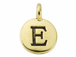TierraCast Pewter Alphabet Charm Antique Gold Plated -  E