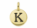 TierraCast Pewter Alphabet Charm Antique Gold Plated -  Kappa