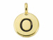 TierraCast Pewter Alphabet Charm Antique Gold Plated -  Omnicron