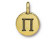 TierraCast Pewter Alphabet Charm Antique Gold Plated -  PI