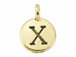 TierraCast Pewter Alphabet Charm Antique Gold Plated -  Chi