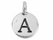 TierraCast Pewter Alphabet Charm Antique Silver Plated -  Alpha
