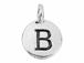 TierraCast Pewter Alphabet Charm Antique Silver Plated -  Beta