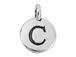 TierraCast Pewter Alphabet Charm Antique Silver Plated -  C