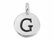 TierraCast Pewter Alphabet Charm Antique Silver Plated -  G
