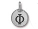 TierraCast Pewter Alphabet Charm Antique Silver Plated -  Phi