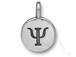 TierraCast Pewter Alphabet Charm Antique Silver Plated -  Psi