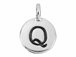 TierraCast Pewter Alphabet Charm Antique Silver Plated -  Q