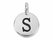 TierraCast Pewter Alphabet Charm Antique Silver Plated -  S