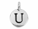 TierraCast Pewter Alphabet Charm Antique Silver Plated -  U