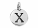 TierraCast Pewter Alphabet Charm Antique Silver Plated -  X