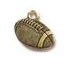 5 - TierraCast Football Pewter Charm Antique Gold Plated