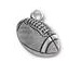 5 - TierraCast Football Pewter Charm Antique Silver Plated