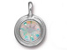 Crystal AB - TierraCast Bright Rhodium Plated Pewter Stepped Bezel Charm with Swarovski Stone