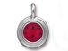 Siam - TierraCast Bright Rhodium Plated Pewter Stepped Bezel Charm with Swarovski Stone, January Birthstone