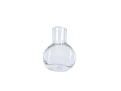 Cognac Bottle Shape    (Silvertone cap & plaster stopper included)