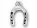 Sterling Silver Large Horseshoe charm  with Jumpring