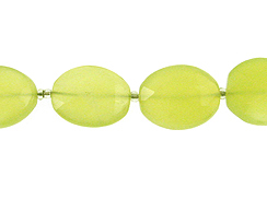 Faceted Green Chalcedony Ovals