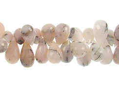 Faceted Pink Opal Drops
