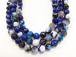 10mm Faceted Agate Blue