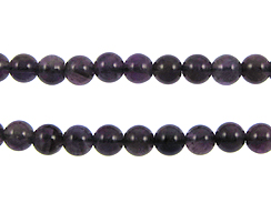 8mm Round Amethyst Gemstone Bead Strand
