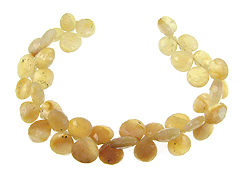 Faceted Yellow Opal Drops