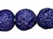 10mm Round Smooth Lapis Blue Lava Rock Gemstone Bead Strand