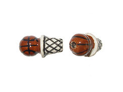 17mm Basketball & Net Bead SMALL