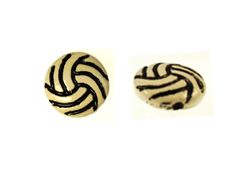 Ceramic Volleyball Disc Bead