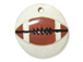 Ceramic Football Pendant