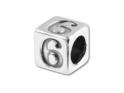 5.5mm Sterling Silver Number 6 (Bulk pack of 50). *VERY SPECIAL PRICE*