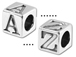5.5mm Pewter Alphabet Bead - Blocks (with 4mm hole) Starter Set of 200 Assorted Letter Blocks. Click code above for more details