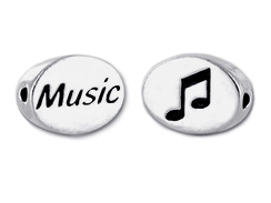 MUSIC Sterling Silver  Bead