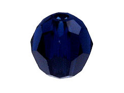 36 Dark Indigo - 4mm Swarovski Faceted Round Crystal Bead