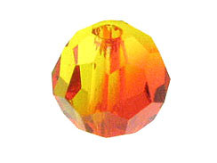 36 Fire Opal - 4mm Swarovski Faceted Round Beads