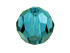 Indicolite - Swarovski 5000 4mm Round Faceted Beads Factory Pack