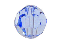 24 Light Sapphire - 6mm Swarovski Faceted Round Beads