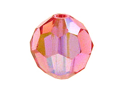 36 Rose AB - 3mm Swarovski Faceted Round Beads