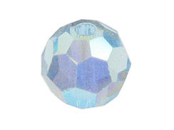 Aquamarine AB - Swarovski 5000 4mm Round Faceted Beads Factory Pack