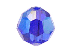 Sapphire AB - Swarovski 5000 4mm Round Faceted Beads Factory Pack