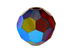 12 Siam AB - 10mm Swarovski Faceted Round Beads