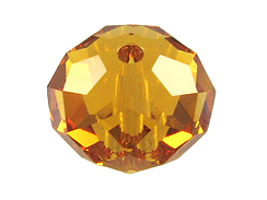 8mm Topaz - Swarovski Crystal Rondelles Factory Pack