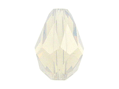 White Opal - 9x6mm Swarovski Faceted Teardrop Beads